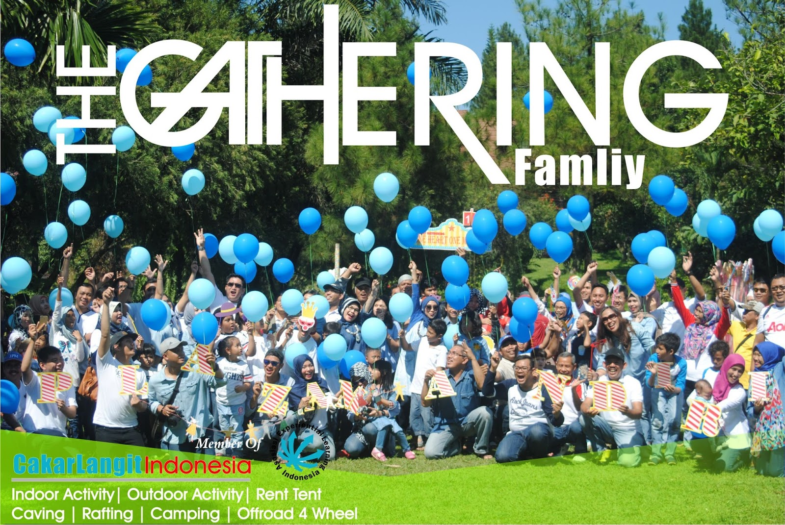 family gathering cakarlangit indonesia