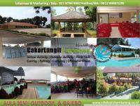 Fasilitas Aula Semi Outdoor dan Gajebo Villa Bukit Hambalang
