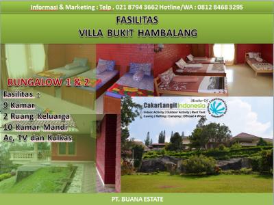 Fasilitas Kamar Villa Bukit Hambalang